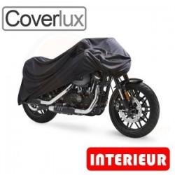 Housses de protection moto en Jersey 100% Polyester, bâche moto protection Coverlux (Bulle + Top case) de taille BA