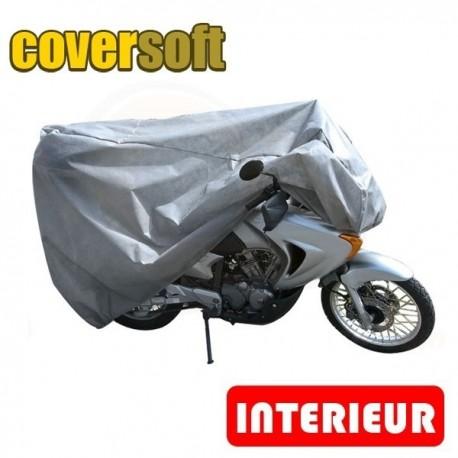 Housses de protection moto 100% Polypropylène, bâche moto protection intérieure Coversoft de taille EN