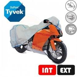 Housses de protection moto en Tyvek, bâche moto protection intérieure et extérieure (Bulle + Top case) Taille BA