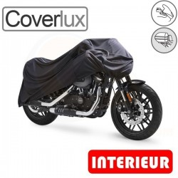 Housses de protection moto en Jersey 100% Polyester, bâche moto protection Coverlux (Bulle + Top case) de taille BA