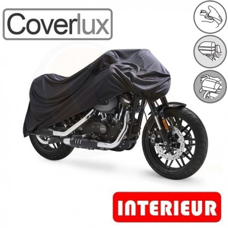 Housses protection moto en Jersey 100% Polyester, bâche moto protection Coverlux (Bulle + Top case + Bagageries) de taille ENA