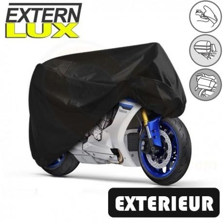 Housses de protection moto en PVC, bâche moto protection extérieure Externlux (Bulle + Top case + Bagageries) de taille TO