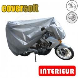 Housses de protection moto 100% Polypropylène, bâche moto protection intérieure Coversoft (Bulle + Top case) de taille BA