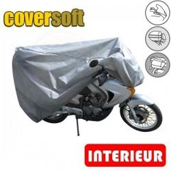 Housses de protection moto 100% Polypropylène, bâche moto protection Coversoft (Bulle + Top case + Bagageries) de taille ENA