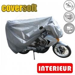 Housses de protection moto 100% Polypropylène, bâche moto protection Coversoft (Bulle + Top case + Bagageries) de taille TO