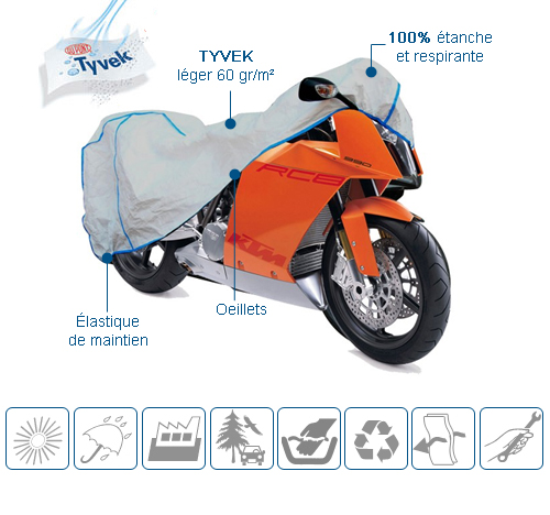 housse de protection moto Tyvek