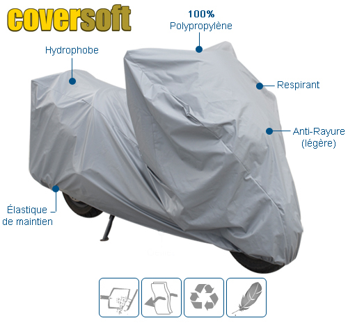 housse de protection moto Polypropylène COVERSOFT