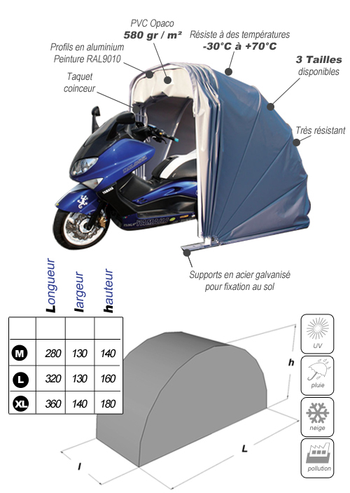 abri protection moto et scooter Motobox