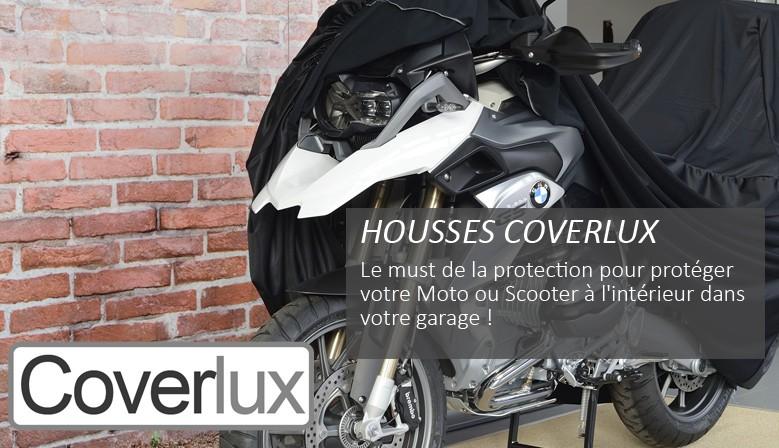 HOUSSES COVERLUX : Le Must de la protection pour protéger votre Moto ou Scooter à l'intérieur dans votre garage !